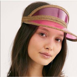 Free People Skylark vinyl  visor